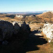 Peña Amaya. Amaya trinchera de acceso al poblado