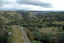 Ciudad de Vascos. Montes de Toledo desde la muralla