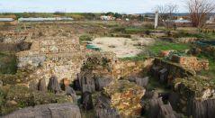 Villa romana de El Saucedo. Estructuras excavadas