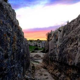 """Último tramo del denominado """"camino hondo"""" del Castellar de Meca"""